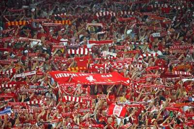 Liverpool curva Kop stadio Anfiled